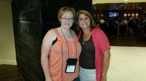 Because I'm not posting a picture of the Body Farm in action, here's me with Lisa Gardner at WPA. Fangirl moment!